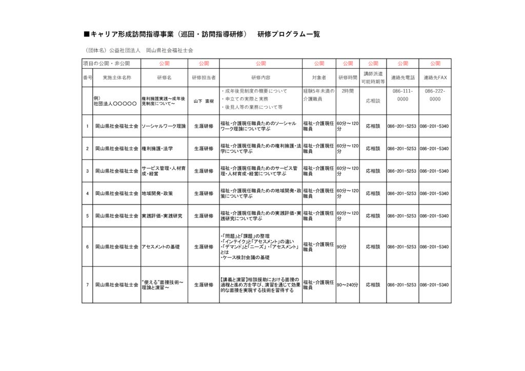 00キャリア形成訪問指導事業研修プログラムのサムネイル